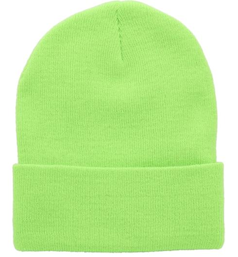 Top Level Beanie Men Women - Unisex Cuffed Plain Skull Knit Hat Cap